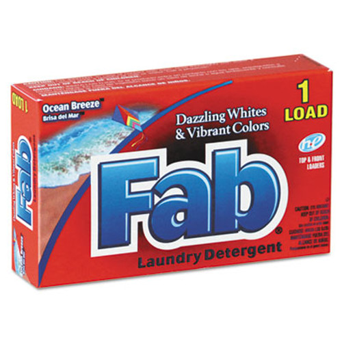 Fab Dispenser-Design HE Laundry Detergent Powder, Ocean Breeze, 1oz Box (VEN 035690)