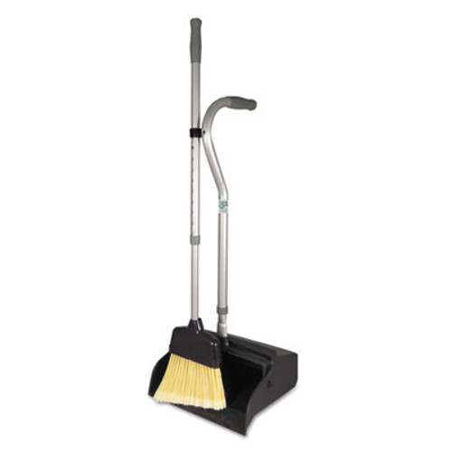 "Unger Telescopic Ergo Dust Pan with Broom, 12"" Wide, 45"" High, Metal, Gray/Silver (UNG EDTBG)"