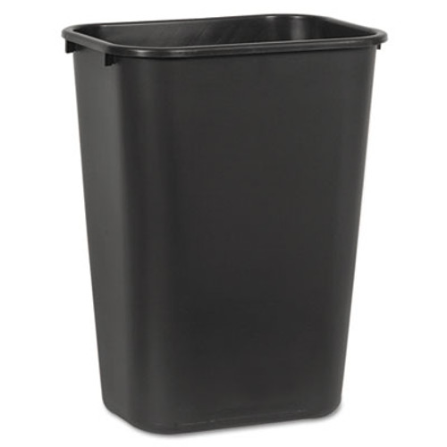 Boardwalk Soft-Sided Wastebasket, 41 qt, Plastic, Black (UNS 41QTWB BLA)