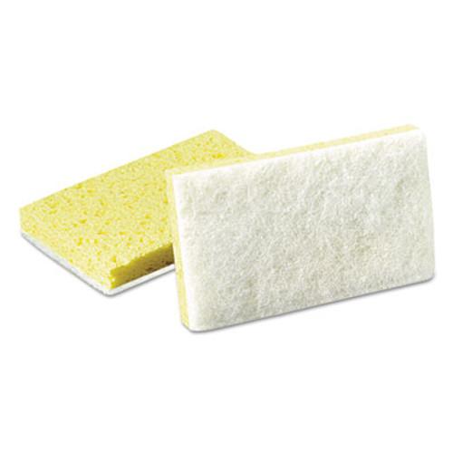 Scotch-Brite PROFESSIONAL Light-Duty Scrubbing Sponge, #63, 3 1/2 x 5 5/8, Yellow/White (MMM08251)