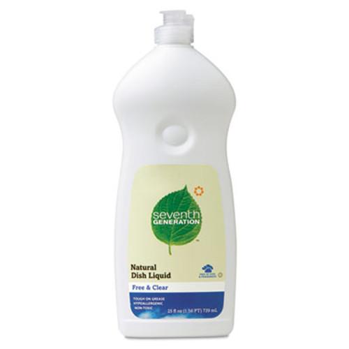 Seventh Generation Natural Dishwashing Liquid, Free & Clear, 25 oz Bottle (SEV22733EA)