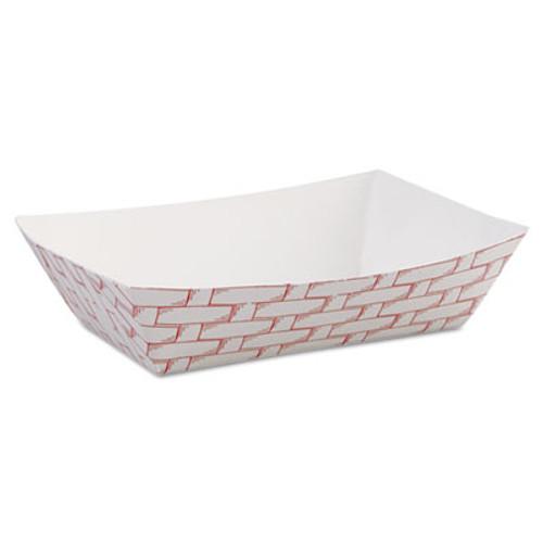 Boardwalk Paper Food Baskets, 6 oz Capacity, Red/White, 1000/Carton (BWK 30LAG040)