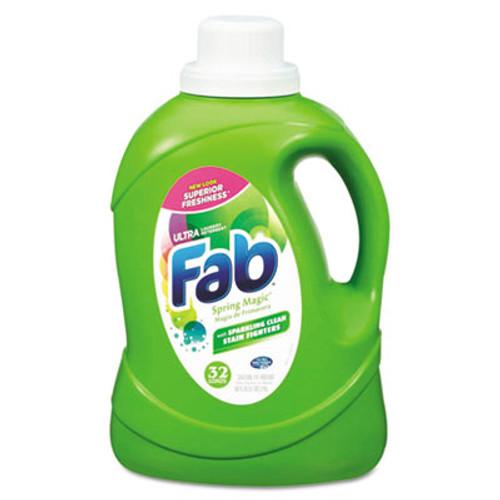 Fab 2X HE Liquid Laundry Detergent, Spring Magic, 50oz, Bottle, 6/Carton (PBC 37060)