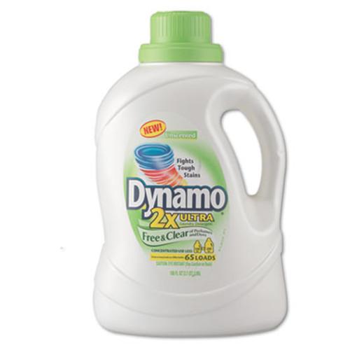 Dynamo 2Xultra Laundry Detergent, Free & Clear, 100oz Bottle, 4/Carton (PBC 48116)