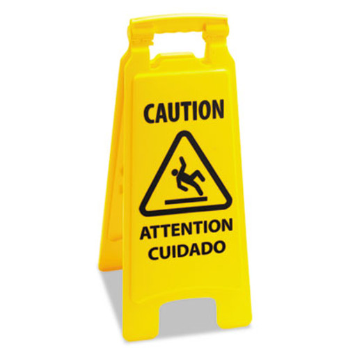 Boardwalk Caution Safety Sign For Wet Floors, 2-Sided, Plastic, 11x1-1/2x26, Yellow (UNS 26FLOORSIGN)