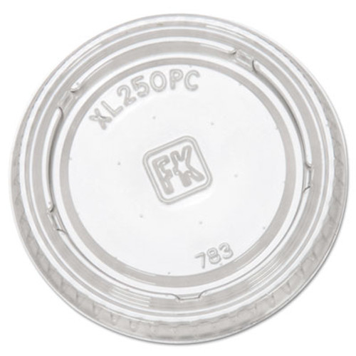 Fabri-Kal Portion Cup Lids, Fits 1.5-2.5oz Cups, Clear (FAB XL250PC)