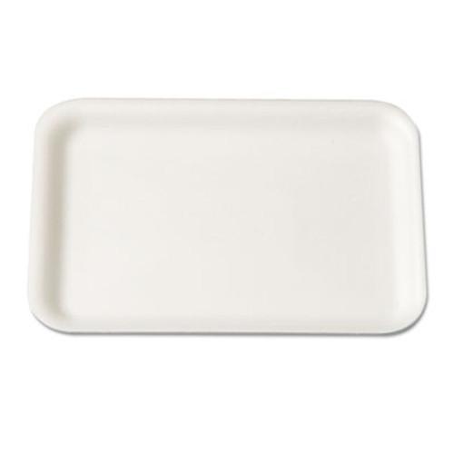 Genpak Supermarket Tray, Foam, White, 8-1/4x5-3/4, 125/Bag (GNP 2WH)