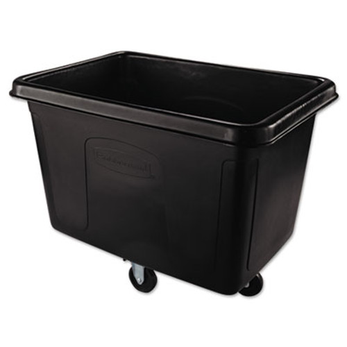 Rubbermaid Cube Truck, Rectangular, 500-lb. Cap., Black (RCP 4614 BLA)