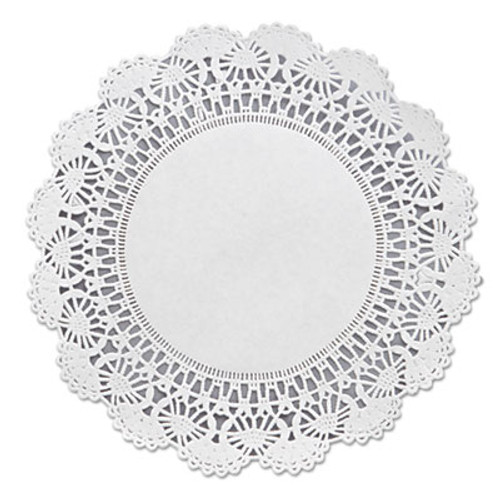 "Hoffmaster Cambridge Lace Doilies, Round, 8"", White, 1000/Carton (HFM 500236)"