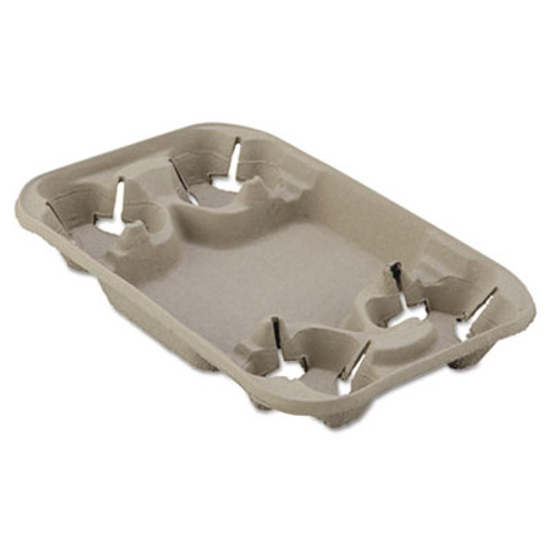 Chinet StrongHolder Molded Fiber Cup/Food Tray, 8-22oz, Four Cups, 250/Carton (HUH FOND)
