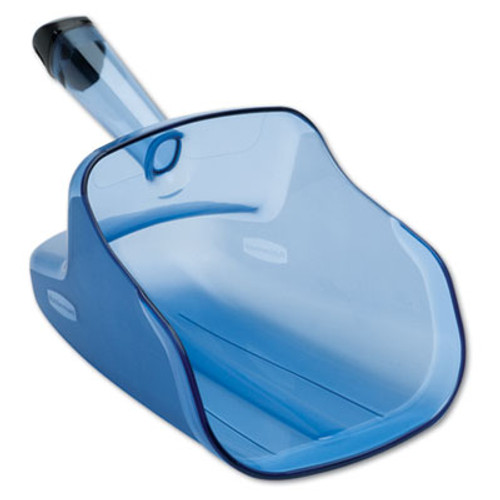 Rubbermaid Commercial Hand-Guard Scoop, 74oz, Transparent Blue (RCP 9F50)