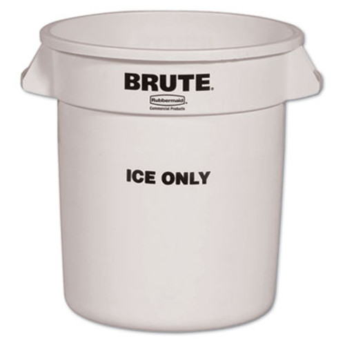 Rubbermaid Brute Ice-Only Container, 10gal, White (RCP 9F86 WHI)