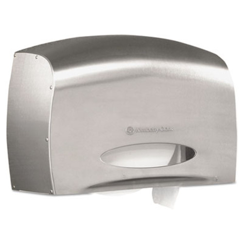 Kimberly-Clark Professional* Coreless JRT Jr. Bath Tissue Dispenser, EZ Load, 6x9.8x14.3, Stainless Steel (KCC 09601)