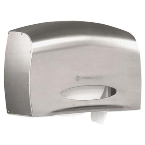 Kimberly-Clark Professional* Coreless JRT Jr. Bath Tissue Dispenser, EZ Load, 6x9.8x14.3, Stainless Steel (KCC 09601)