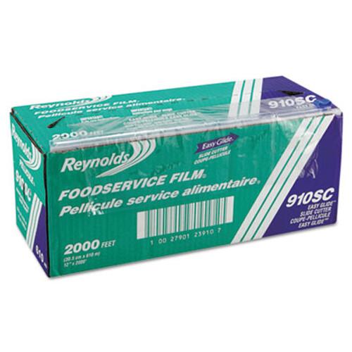 "Reynolds Wrap PVC Food Wrap Film Roll in Easy Glide Cutter Box, 12"" x 2000 ft, Clear (REY 910SC)"