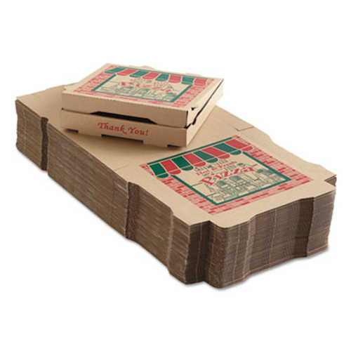 ARVCO Corrugated Pizza Boxes, 12w x 12d x 1 3/4h, Kraft (ARV9124314)