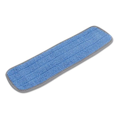 Boardwalk Microfiber Mop Head, Blue, 18 x 5, Split Microfiber, Hook & Loop Back, Dozen (UNS MFM185B-CF)