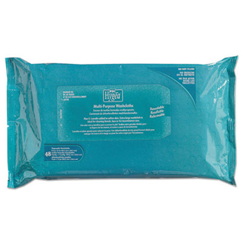 "Sani Professional Hygea Adult Wash Cloths, 1-Ply, 8"" x 12"", White, 60 Pack, 9 Packs/Carton (NIC J14108)"