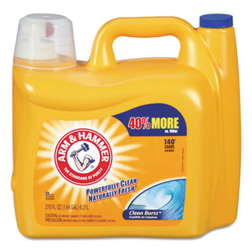 Arm & Hammer Dual HE Clean-Burst Liquid Laundry Detergent, 210oz Bottle (CDC 33200-09793)