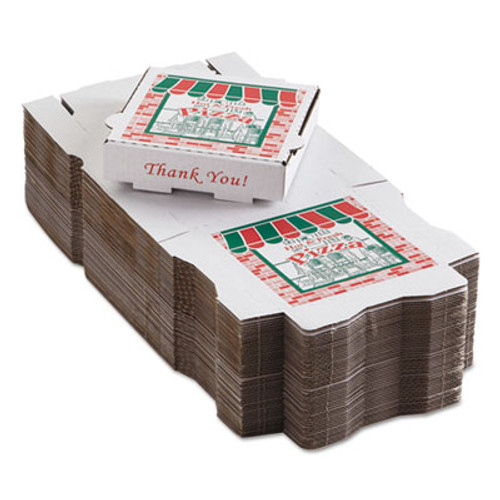ARVCO Corrugated Pizza Boxes, Kraft/White, 8 x 8 (ARV9084393)
