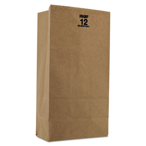 General #12 Paper Grocery, 60lb Kraft, Extra Heavy-Duty 7 1/16x4 1/2 x12 3/4, 1,000 bags (BAG GX12)