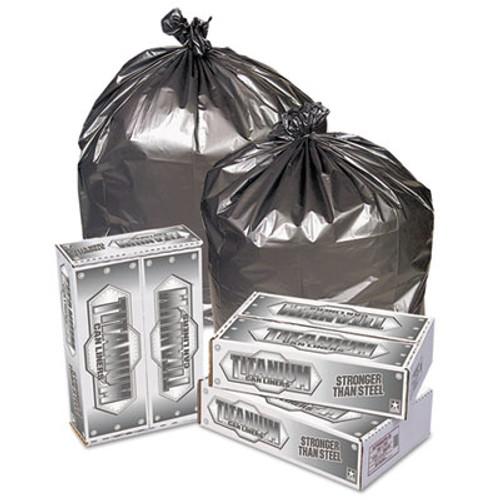 Pitt Plastics Titanium Low-Density Can Liners, 55-60 gal, 1.7 mil, 39 x 57, Silver, 50/Carton (PIT TI3957S)