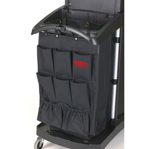 Rubbermaid Fabric 9-Pocket Cart Organizer, 19 3/4w x 28d x 1 1/2h, Black, 6/Carton (RCP 9T90 BLA)
