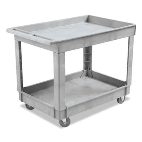Boardwalk Utility Cart, Two-Shelf, Plastic Resin, 24w x 40d, Gray (UNS 4024UC GRA)
