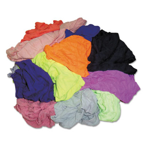 HOSPECO New Colored Knit Polo T-Shirt Rags, Multicolored, Multi-Fabric,10 lb Polybag (HOS 245-10BP)