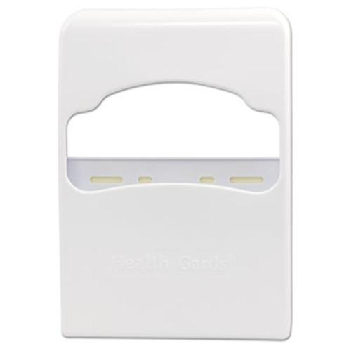 HOSPECO Health Gards Quarter-Fold Toilet Seat Cover Dispenser, White, Plastic (HOS HG-2)