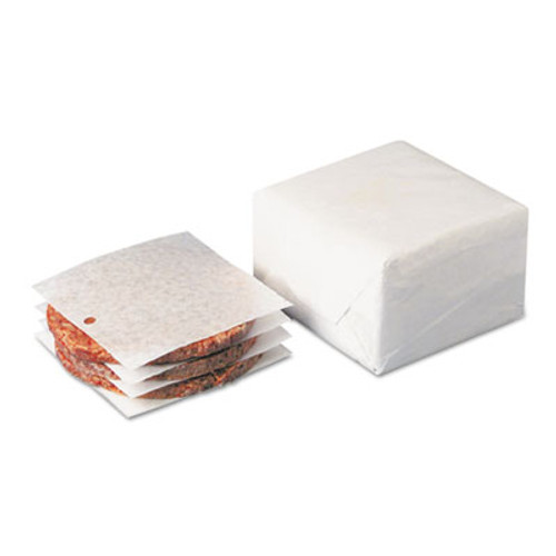 Dixie Dry Wax Laminated Patty Paper With Hole, White, 5 x 5 (DXEWR58)