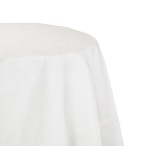 """Hoffmaster Tissue/Poly Tablecovers, Round, 82"""" Diameter, White, 25/Carton (HFM 210086)"""