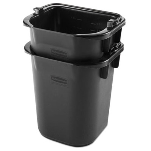 Rubbermaid Executive Heavy Duty Pail, Black, Plastic, 5 Quarts, 9.3 w x 7.5 d x 8.5 h (RCP 1857378)