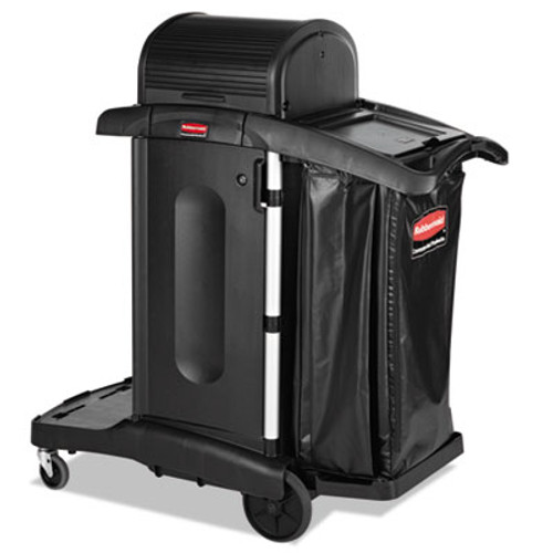Rubbermaid Executive High Security Janitorial Cleaning Cart, 23-1/10 x 39-3/5 x 27-1/2, Blk (RCP 1861427)