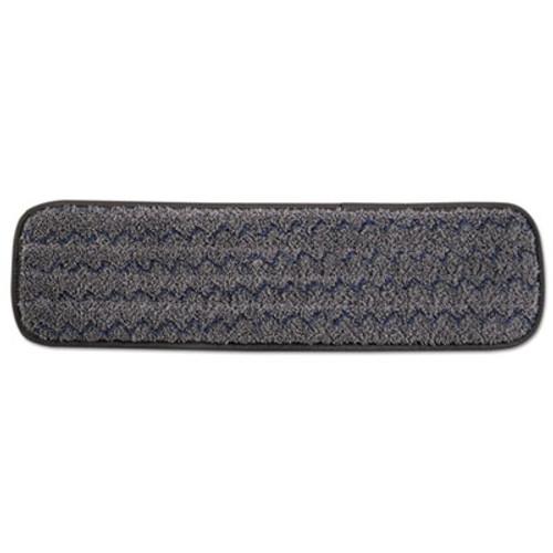 "Rubbermaid Pulse Executive Single-Sided Microfiber Flat Mop Head, 18"", Dark Gray, 12/Pack (RCP 1863895)"