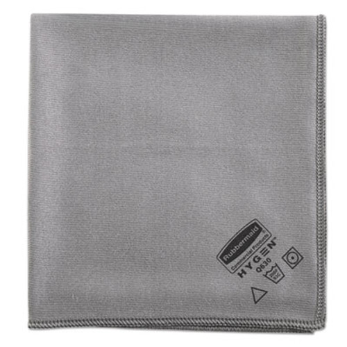 Rubbermaid Executive Glass Microfiber Cloths, Gray, 16 x 16, 12/Pack (RCP 1867398)