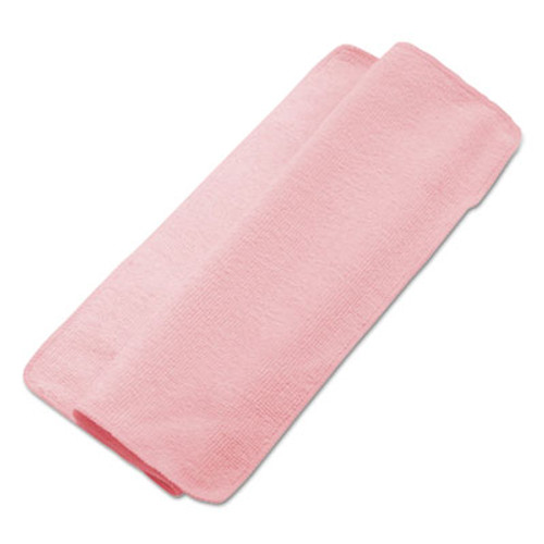 Boardwalk Lightweight Microfiber Cleaning Cloths, Pink, 16 x 16, 24/Pack (UNS 16REDCLOTH)