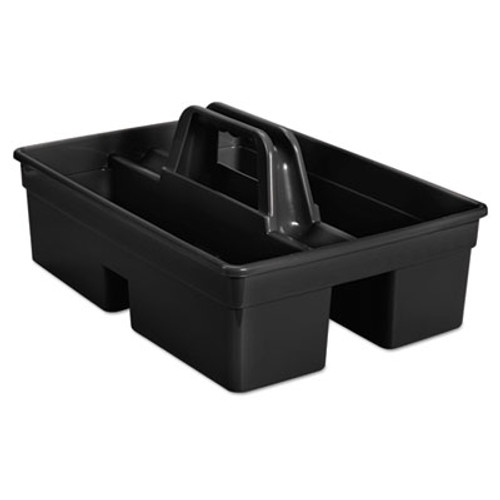 """Rubbermaid Executive Carry Caddy, 2-Compartment, Plastic, 10 3/4""""W x 6 1/2""""H, Black (RCP 1880994)"""