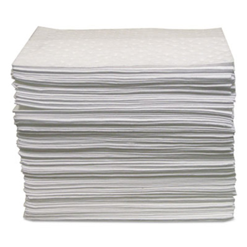 Anchor Brand Oil-Only Sorbent Pads, Gray, 15 x 17, 100/Bundle (ANRABBPO500)