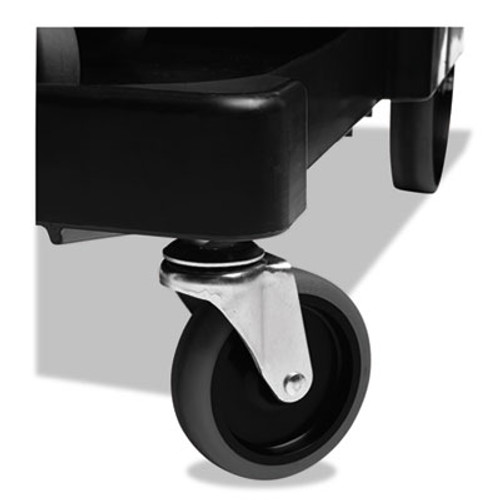 """Rubbermaid Executive Quiet Caster and Ball Bearing Wheel Kit, Black, 8"""" Wheels, 4"""" Casters (RCP 1878367)"""