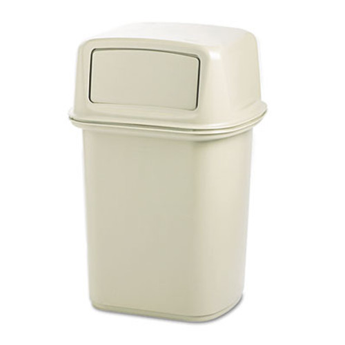 Rubbermaid Commercial Ranger Fire-Safe Container, Square, Structural Foam, 45gal, Beige (RCP 9171-88 BEI)