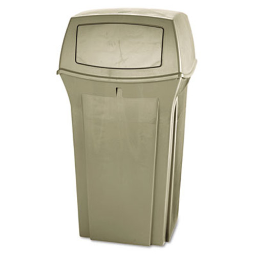 Rubbermaid Ranger Fire-Safe Container, Square, Structural Foam, 35gal, Beige (RCP 8430-88 BEI)