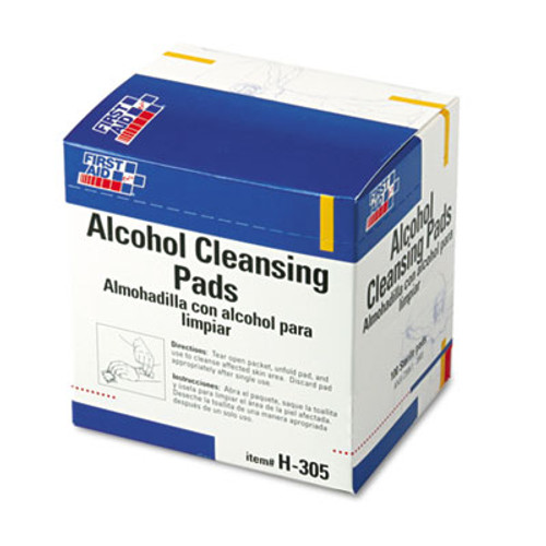 First Aid Only Alcohol Cleansing Pads, Dispenser Box, 100/Box (FAOH305)