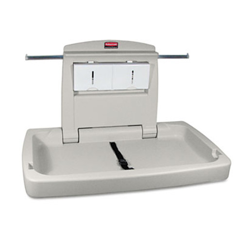 Rubbermaid Sturdy Station 2 Baby Changing Table, Platinum (RCP 7818-88 PLA)