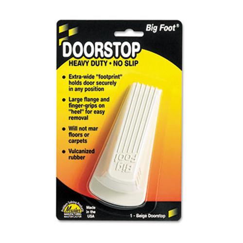 Master Caster Big Foot Doorstop, No Slip Rubber Wedge, 2 1/4w x 4 3/4d x 1 1/4h, Beige (MST 00900)