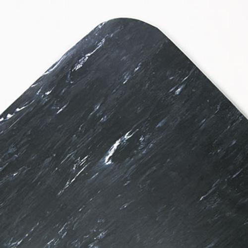 Crown Cushion-Step Surface Mat, 36 x 60, Marbleized Rubber, Black (CRO CU3660S BLA)