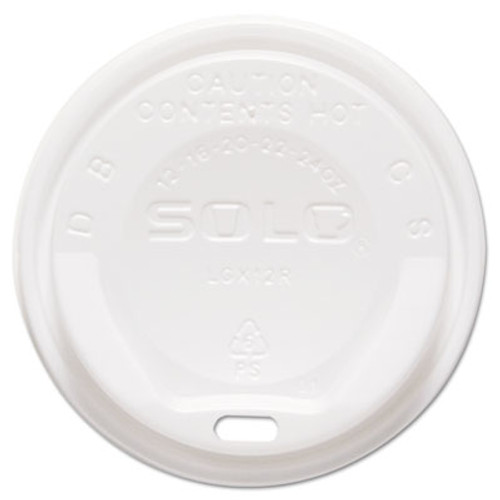 Dart Gourmet Hot Cup Lids, For Trophy Plus Cups, 12-16 oz, White, 1500/Carton (SCC LGXW2)