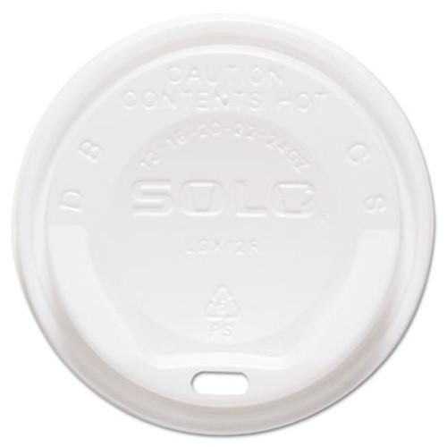 Dart Gourmet Hot Cup Lids, For Trophy Plus Cups, 12-16 oz, White, 1500/Carton (SCC LGXW2)