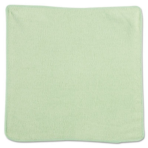 Rubbermaid Microfiber Cleaning Cloths, 12 x 12, Green, 24/Pack (RCP 1820578)