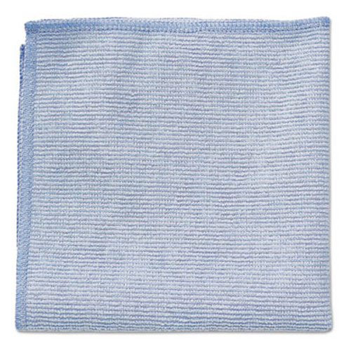 Rubbermaid Microfiber Cleaning Cloths, 12 x 12, Blue, 24/Pack (RCP 1820579)
